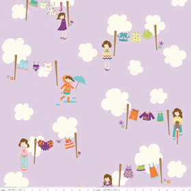 Dress Up Days - Main in Grape - by Doohickey Designs for Riley Blake - 1 Yard