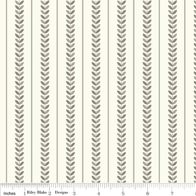 Verona - Stripe in Gray - by Emily Taylor for Riley Blake - 1 Yard