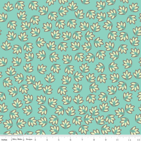 Verona - Leaves in Teal - by Emily Taylor for Riley Blake - 1 Yard