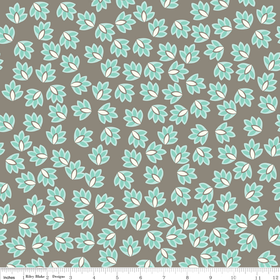 Verona - Leaves in Gray - by Emily Taylor for Riley Blake - 1 Yard