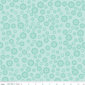 Verona - Flowers in Teal - by Emily Taylor Designs for Riley Blake - 1 Yard