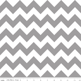 Chevron in Gray - by Riley Blake Designs - 1 Yard